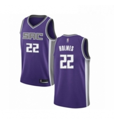 Mens Sacramento Kings 22 Richaun Holmes Authentic Purple Basketball Jersey Icon Edition