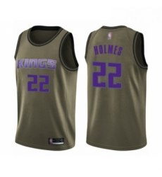 Mens Sacramento Kings 22 Richaun Holmes Swingman Green Salute to Service Basketball Jersey