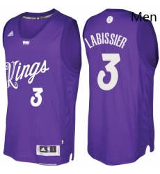 Mens Sacramento Kings 3 Skal Labissiere Purple 2016 2017 Christmas Day NBA Swingman Jersey