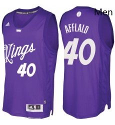 Mens Sacramento Kings 40 Arron Afflalo Purple 2016 2017 Christmas Day NBA Swingman Jersey