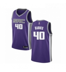 Mens Sacramento Kings 40 Harrison Barnes Authentic Purple Basketball Jersey Icon Edition