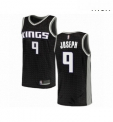 Mens Sacramento Kings 9 Cory Joseph Authentic Black Basketball Jersey Statement Edition
