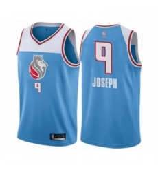 Mens Sacramento Kings 9 Cory Joseph Authentic Blue Basketball Jersey City Edition