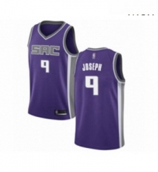 Mens Sacramento Kings 9 Cory Joseph Authentic Purple Basketball Jersey Icon Edition