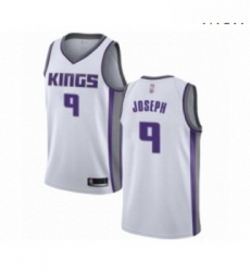 Mens Sacramento Kings 9 Cory Joseph Authentic White Basketball Jersey Association Edition