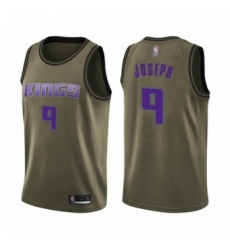 Mens Sacramento Kings 9 Cory Joseph Swingman Green Salute to Service Basketball Jersey
