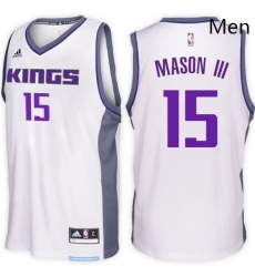 Sacramento Kings 15 Frank Mason III Home White New Swingman Stitched NBA Jersey