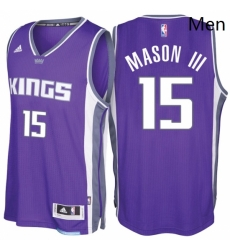 Sacramento Kings 15 Frank Mason III Road Purple New Swingman Stitched NBA Jersey
