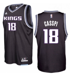 Sacramento Kings 18 Omri Casspi 2016 17 Seasons Black Alternate New Swingman Jersey