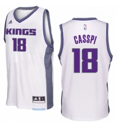 Sacramento Kings 18 Omri Casspi 2016 17 Seasons White Home New Swingman Jersey