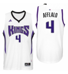 Sacramento Kings 4 Arron Afflalo Home White New Swingman Jersey
