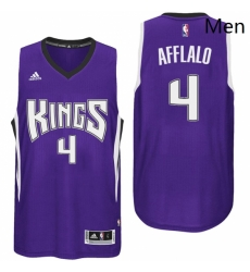 Sacramento Kings 4 Arron Afflalo Road Purple New Swingman Jersey