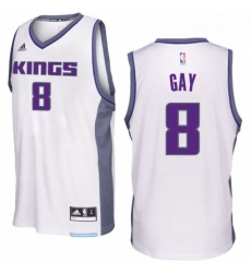 Sacramento Kings 8 Rudy Gay 2016 17 Seasons White Home New Swingman Jersey