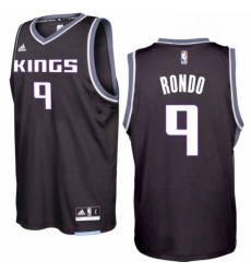 Sacramento Kings 9 Rajon Rondo 2016 17 Seasons Black Alternate New Swingman Jersey