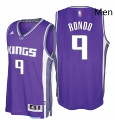Sacramento Kings 9 Rajon Rondo 2016 17 Seasons Purple Road New Swingman Jersey