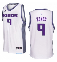 Sacramento Kings 9 Rajon Rondo 2016 17 Seasons White Home New Swingman Jersey