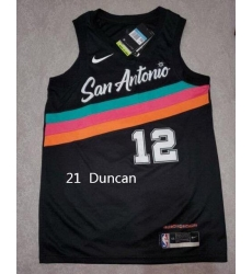 Men Tim Duncan 21 2020 City Edition Jersey
