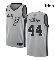 Mens Nike San Antonio Spurs 44 George Gervin Authentic Silver Alternate NBA Jersey Statement Edition