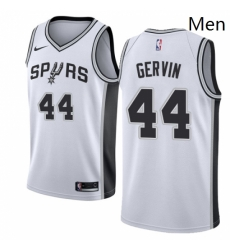 Mens Nike San Antonio Spurs 44 George Gervin Authentic White Home NBA Jersey Association Edition