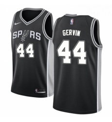 Mens Nike San Antonio Spurs 44 George Gervin Swingman Black Road NBA Jersey Icon Edition