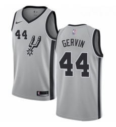 Mens Nike San Antonio Spurs 44 George Gervin Swingman Silver Alternate NBA Jersey Statement Edition