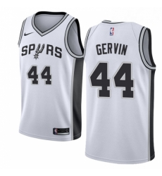 Mens Nike San Antonio Spurs 44 George Gervin Swingman White Home NBA Jersey Association Edition