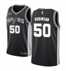 Mens Nike San Antonio Spurs 50 David Robinson Swingman Black Road NBA Jersey Icon Edition