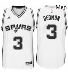 Mens San Antonio Spurs 3 Dewayne Dedmon adidas White Player Swingma Jersey