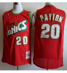 Men Seattle SuperSonics Gary Payton 20 Red Mitchell Ness Jersey