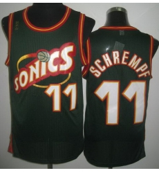 Seattle SuperSonics 11 Detlef Schrempf Green Throwback Revolution 30 NBA Jerseys