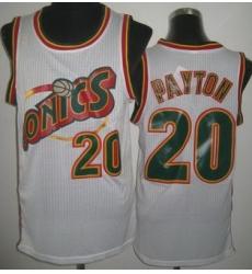 Seattle SuperSonics 20 Gary Payton White Throwback Revolution 30 NBA Jerseys