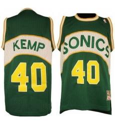 Seattle SuperSonics #40 Shawn Kemp Green Soul Swingman NBA Jersey