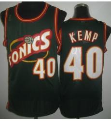 Seattle SuperSonics 40 Shawn Kemp Green Throwback Revolution 30 NBA Jerseys