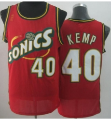 Seattle SuperSonics 40 Shawn Kemp Red Throwback Revolution 30 NBA Basketball Jerseys