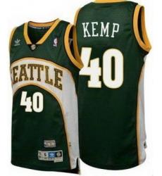 Seattle SuperSonics Shawn Kemp 40# Throwback Swingman Jersey