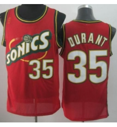 Seattle Supersonic 35 Kevin Durant Red Revolution 30 NBA Basketball Jerseys