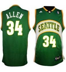 Seattle Supersonics 34# Ray Allen Soul Swingman Green Jersey