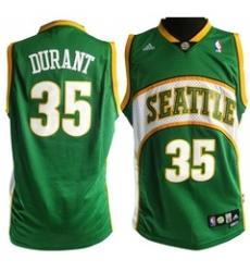 Seattle Supersonics #35 Kevin Durant Green Swingman Jerseys