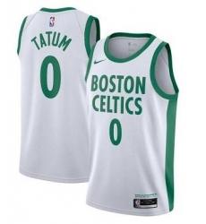 Men Boston Celtics Jayson Tatum White 2020 City Edition Jersey