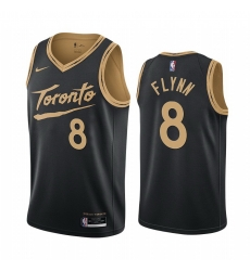 Men Nike Toronto Raptors 8 Malachi Flynn Black NBA Swingman 2020 21 City Edition Jersey