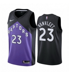 Men Toronto Raptors 23 Fred VanVleet Purple NBA Swingman 2020 21 Earned Edition Jersey