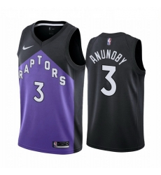 Men Toronto Raptors 3 OG Anunoby Purple NBA Swingman 2020 21 Earned Edition Jersey