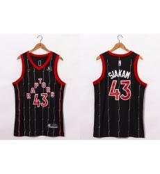 Men Toronto Raptors 43 Pascal Siakam Black 2021 Brand Jordan City Edition Swingman Jersey With The Sponsor Logo