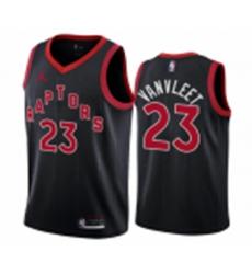 Men Toronto Raptors Fred Vanvleet Black Red 2021 Jersey