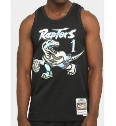 Men Toronto Raptors Tracy McGrady Black Mitchell Ness Jersey
