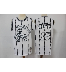 Men Toronto Raptors Vince Carter 15 White Michell Ness Jersey