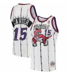 Men Toronto Raptors Vince Carter Mitchell & Ness 1997-98 Hardwood Classics Swingman Jersey White