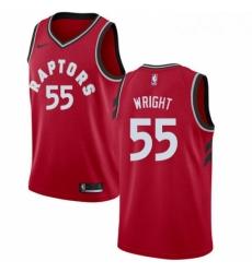 Mens Nike Toronto Raptors 55 Delon Wright Swingman Red Road NBA Jersey Icon Edition