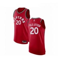 Mens Toronto Raptors 20 Rondae Hollis Jefferson Authentic Red Basketball Jersey Icon Edition