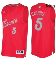 Mens Toronto Raptors 5 DeMarre Carroll Red 2016 2017 Christmas Day NBA Swingman Jersey